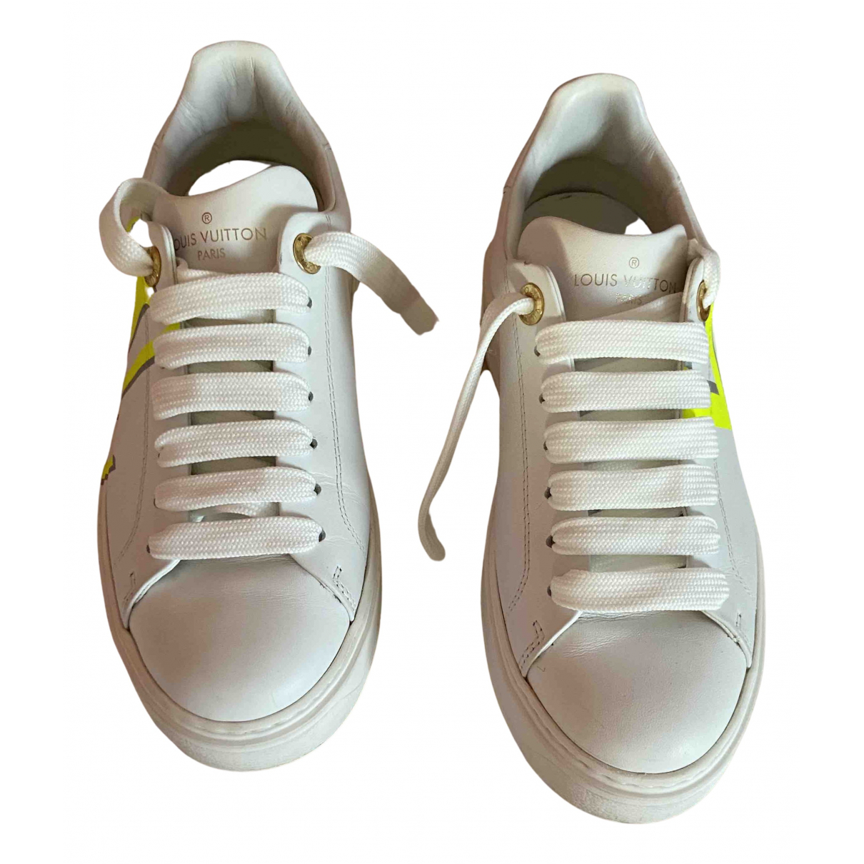 Louis Vuitton N White Leather Trainers for Women 36.5 EU