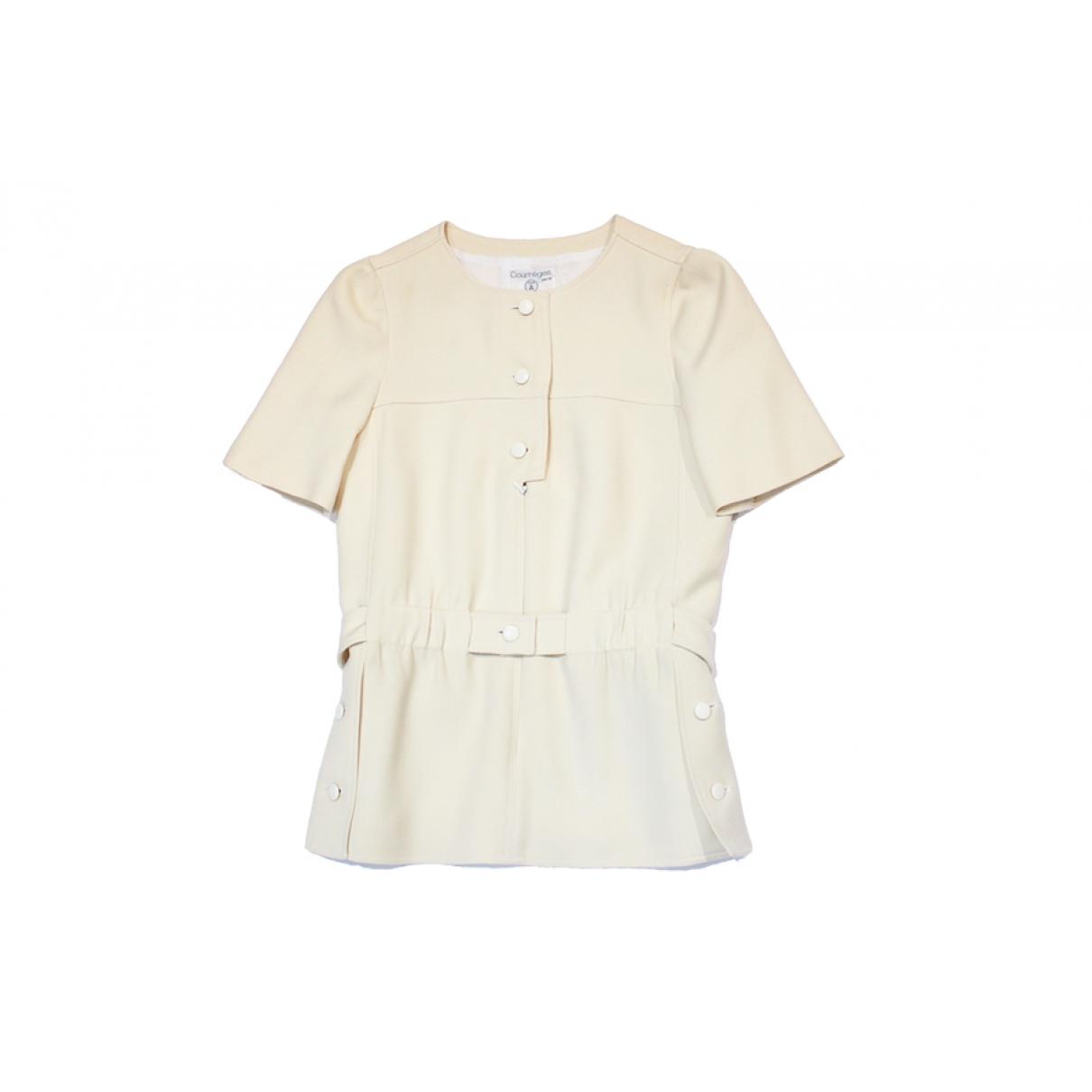 Courrèges \N Ecru Cotton jumpsuit for Women 36 FR