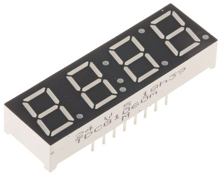 Vishay TDCG1060M  4 Digit 7-Segment LED Display, CC Green 4 mcd RH DP 10mm (3)