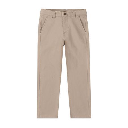 IZOD Little & Big Boys Flat Front Pant, 7 , Beige