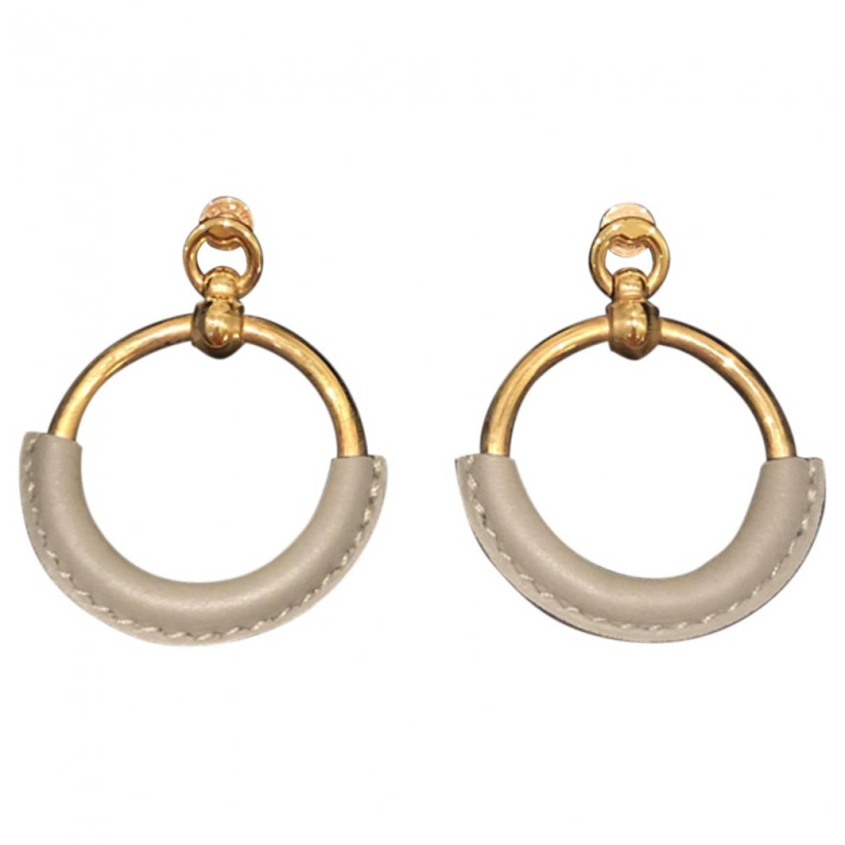Hermès Loop Grey Pink gold Earrings for Women \N