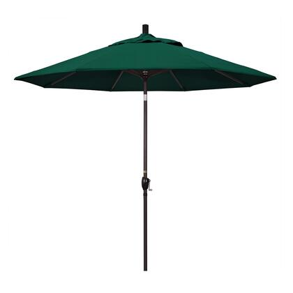 GSPT908117-5446 9' Pacific Trail Series Patio Umbrella With Bronze Aluminum Pole Aluminum Ribs Push Button Tilt Crank Lift With Sunbrella 1A Forest