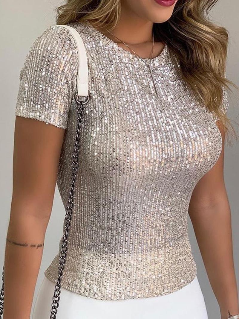 Ericdress Standard Short Sleeve Plain Women's Slim Casual T-Shirt