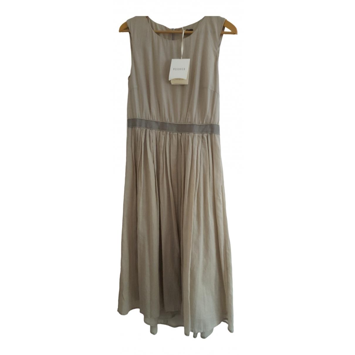 Peserico - Robe   pour femme en coton - beige