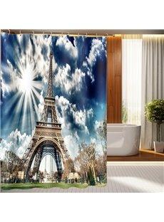 Fantastic Dreamlike Eiffel Tower 3D Shower Curtain