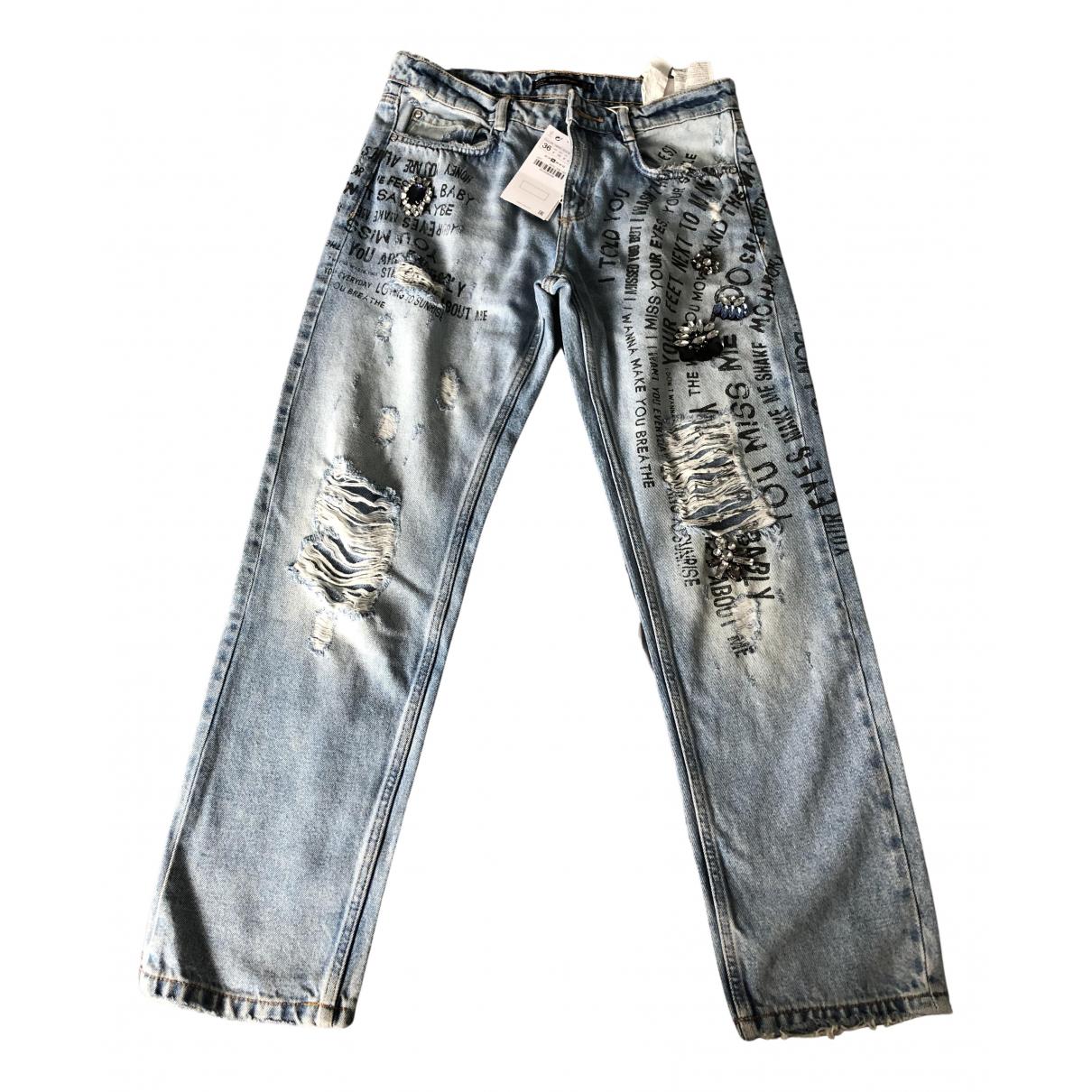 Zara N Blue Denim - Jeans Jeans for Women 36 FR