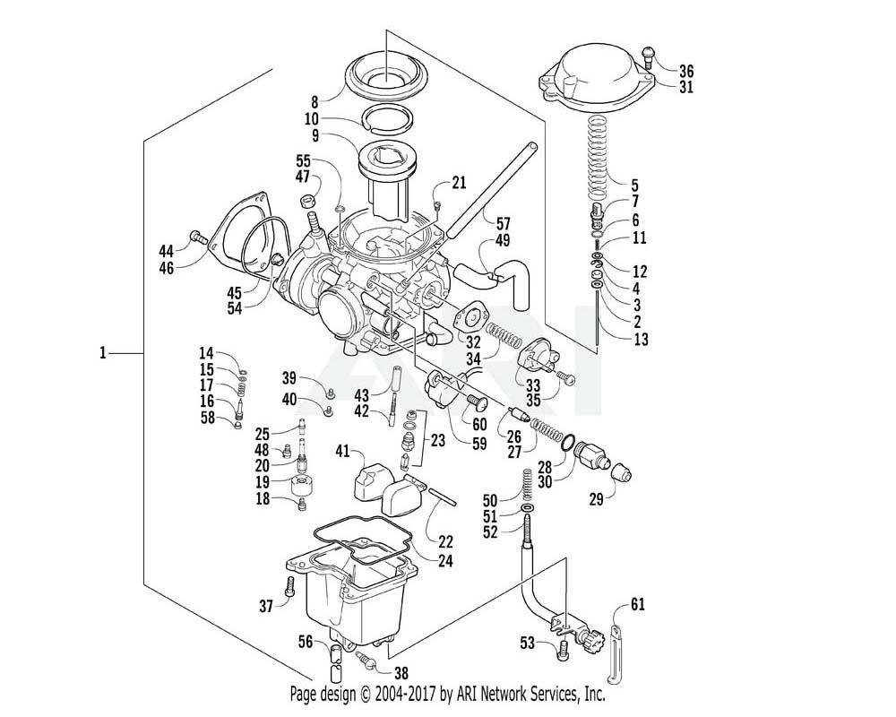 Arctic Cat OEM 3470-031 Carburetor Assembly (37Mm) | (Inc. 2 58)