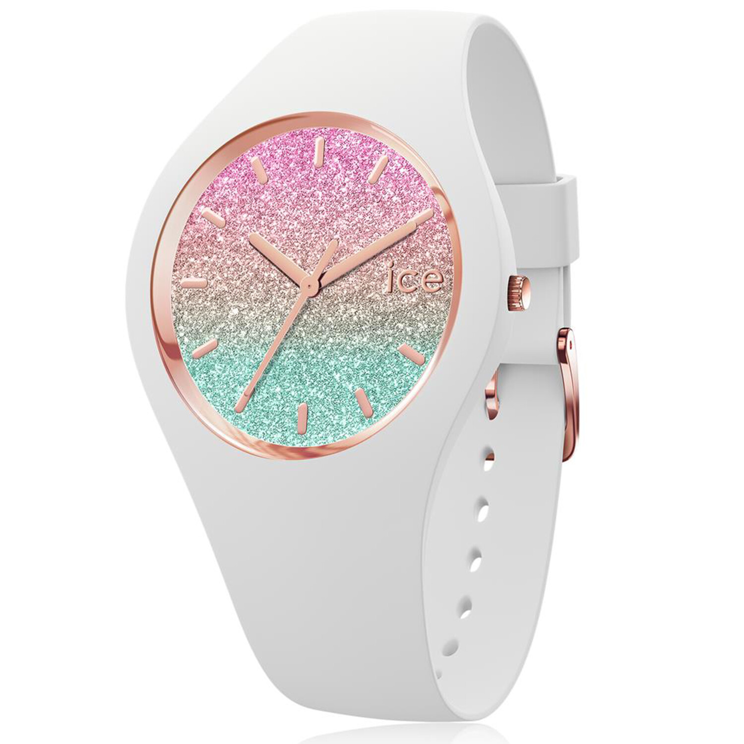Ice-Watch Womens Lo 016902 White Silicone Quartz Fashion Watch