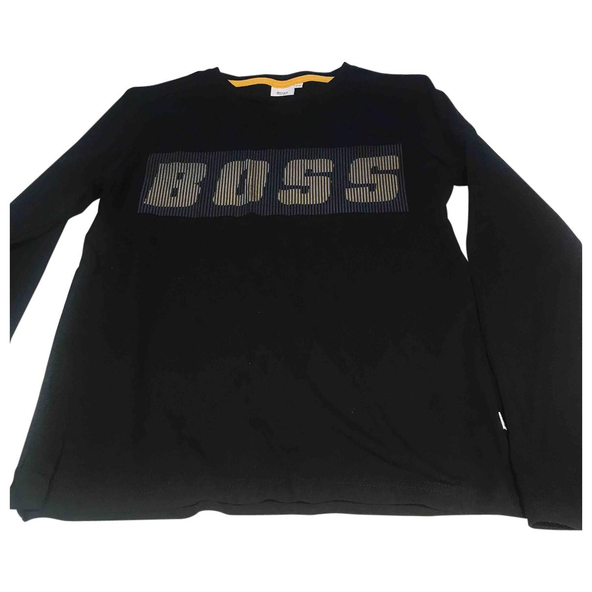 Boss - Top   pour enfant en coton - noir
