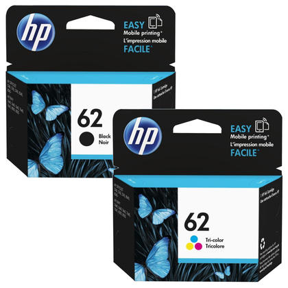 HP 62 Original Black and Tri-color Ink Cartridge Combo