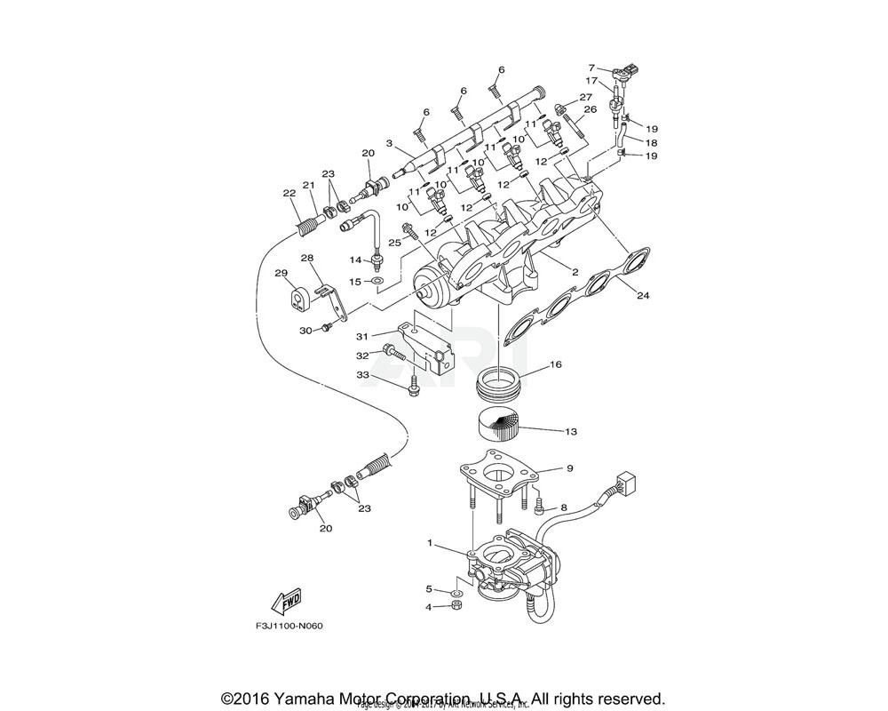 Yamaha OEM 6BH-13645-00-00 GASKET, MANIFOLD 1