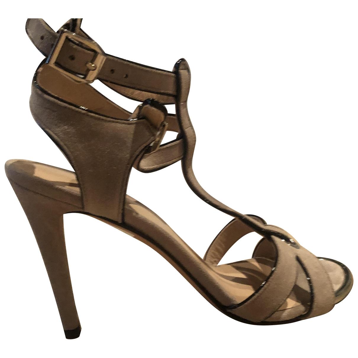 Stuart Weitzman \N Camel Leather Sandals for Women 37 EU