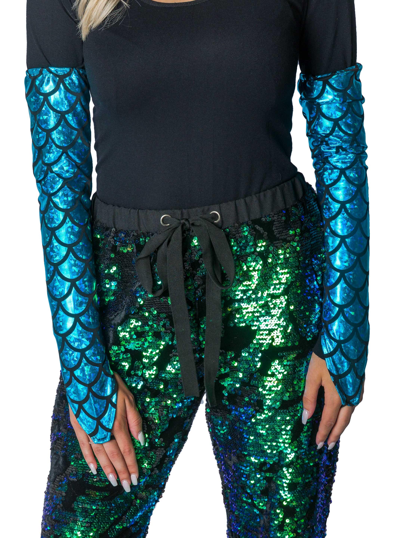 Kostuemzubehor Armstulpen Meerjungfrau Erwachsene blau