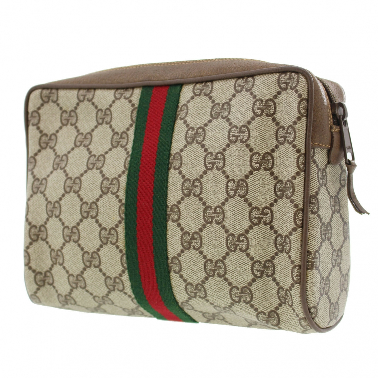 Gucci \N Clutch in  Braun Leder