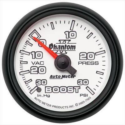 Auto Meter Phantom II Mechanical Boost/Vacuum Gauge - 7503
