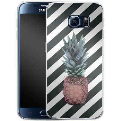 Samsung Galaxy S6 Silikon Handyhuelle - Pink Pineapple von Victoria Topping