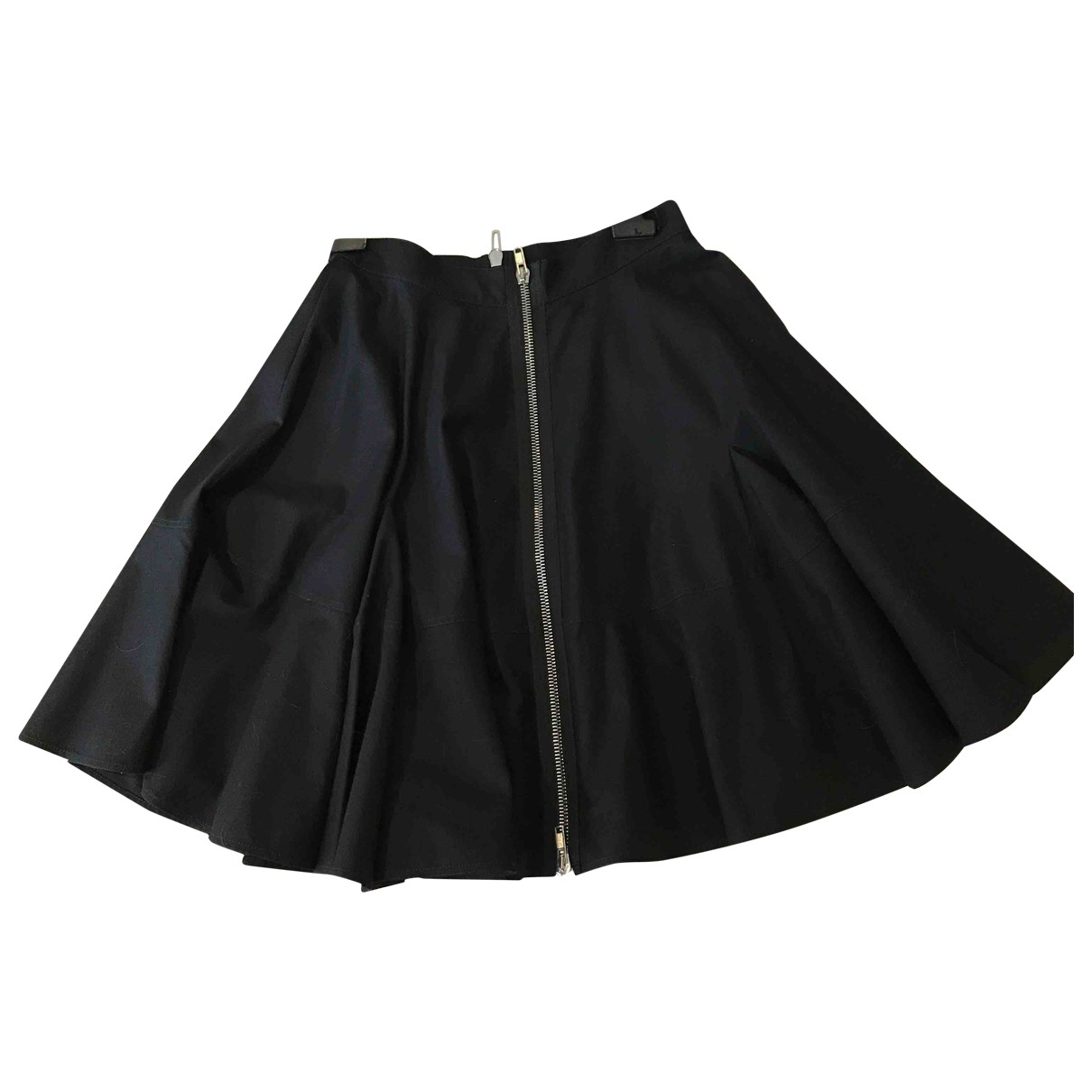 Givenchy \N Black Cotton - elasthane skirt for Women 42 FR