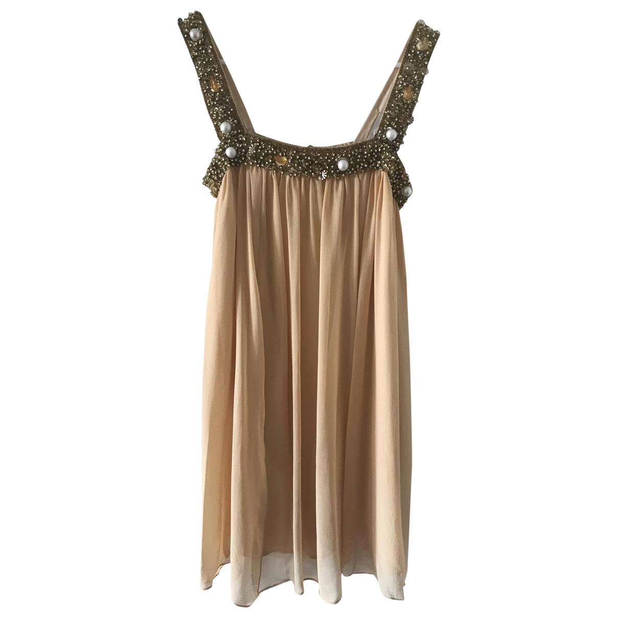 Manoush \N Kleid in  Gold Seide