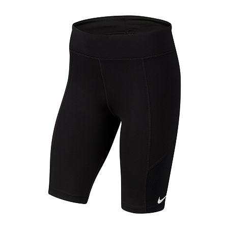 Nike Big Girls Bike Short, Medium , Black