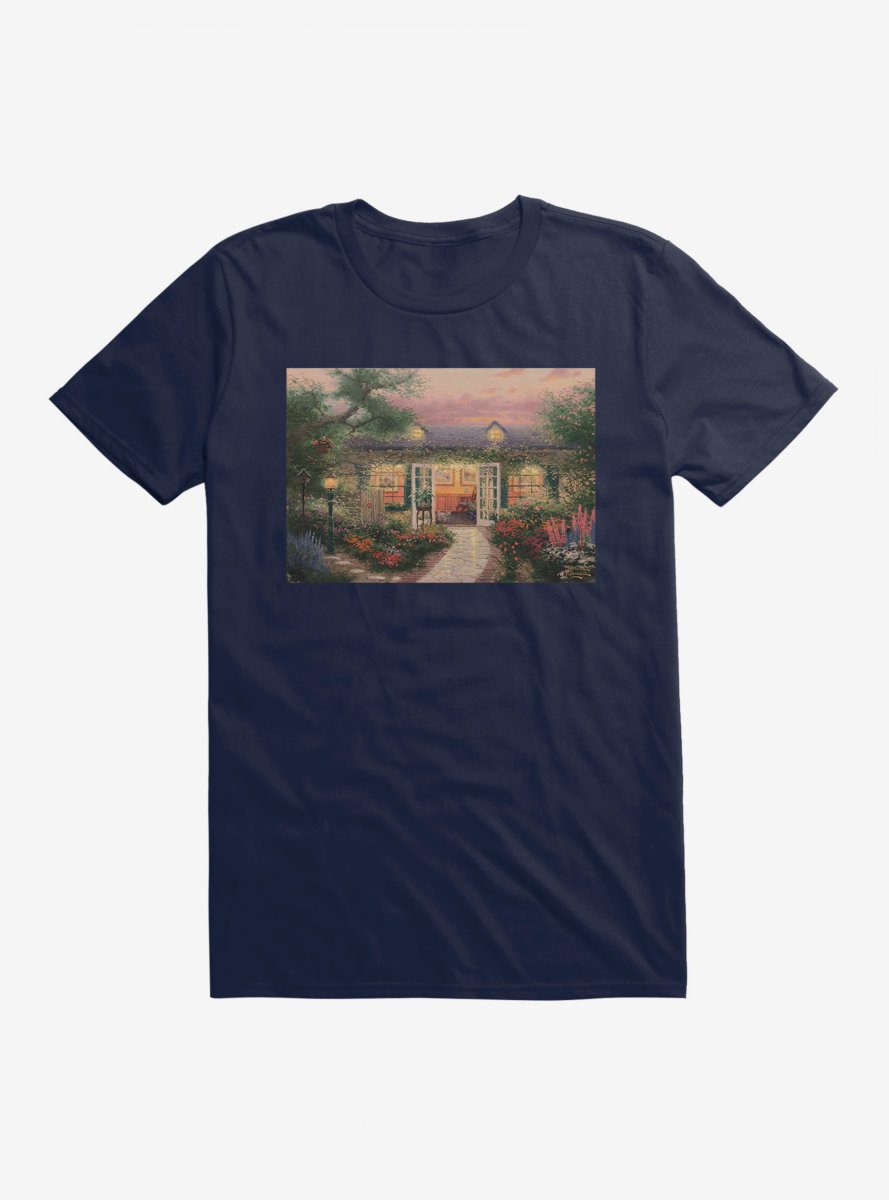 Thomas Kinkade Studio In The Garden T-Shirt