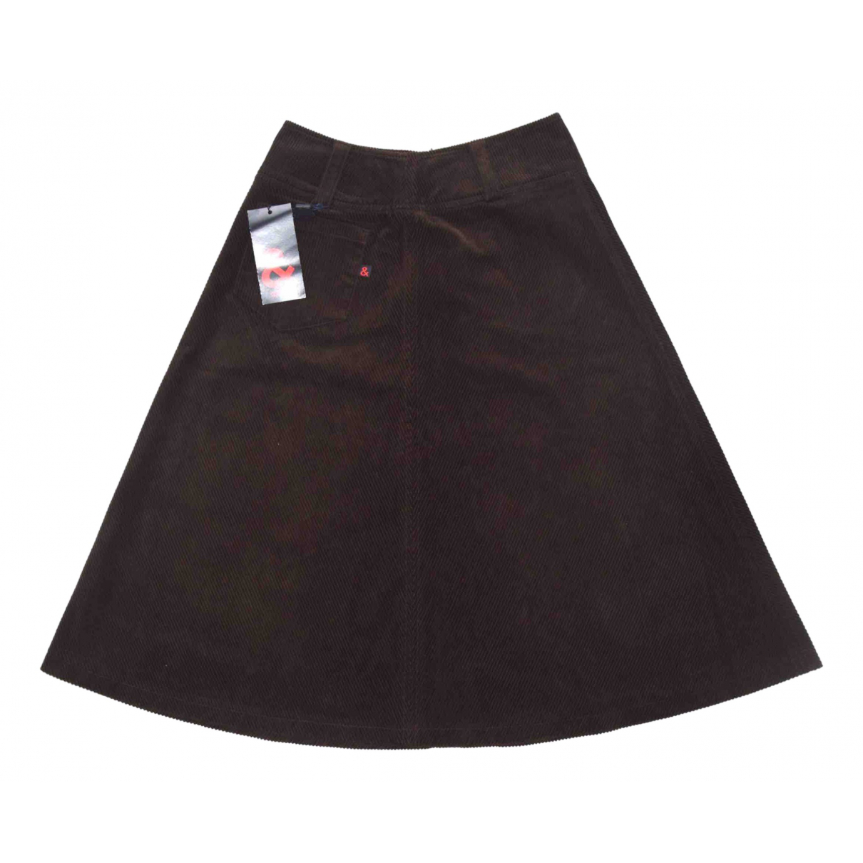 D&g N Brown Cotton skirt for Women 38 IT