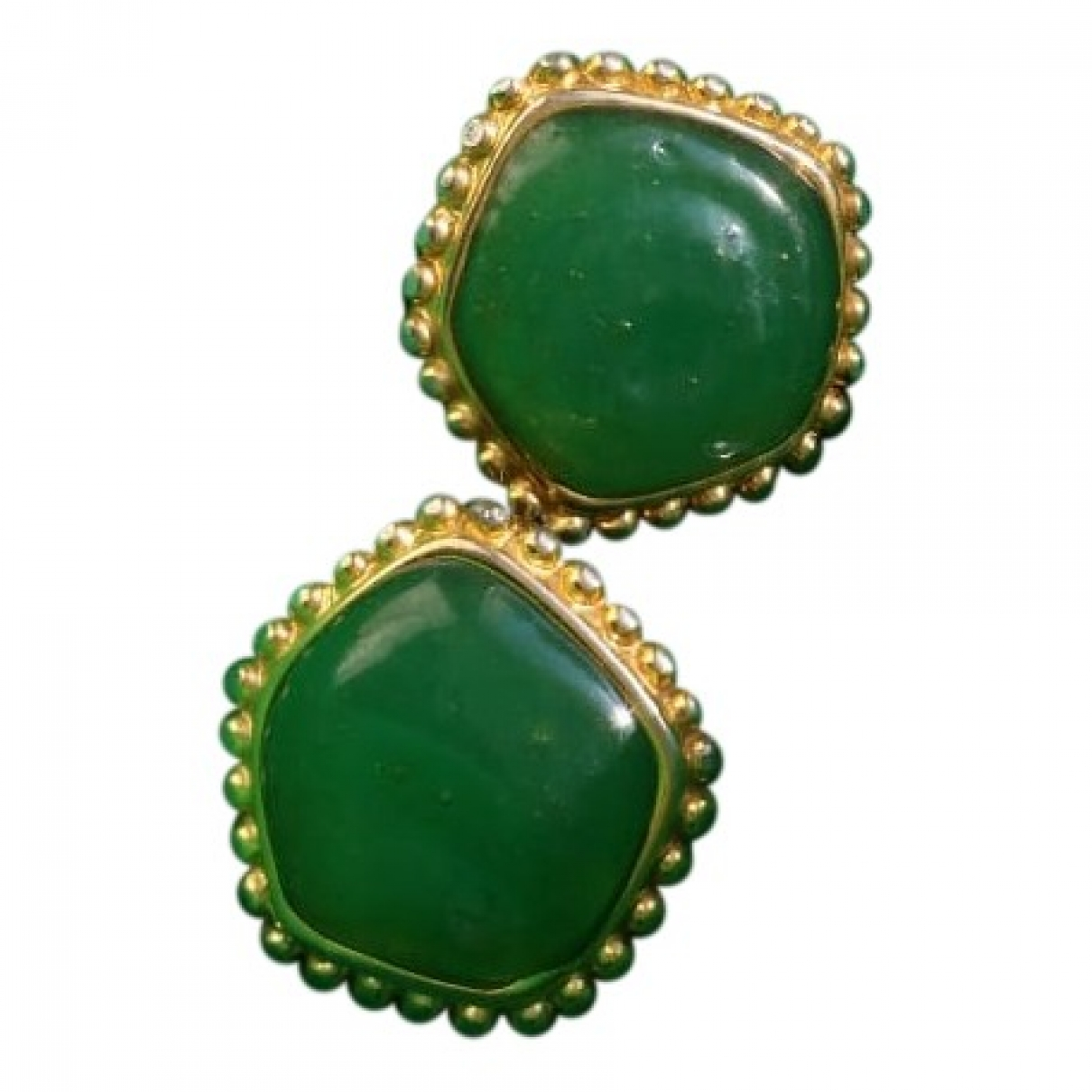Non Signé / Unsigned \N Green Metal Earrings for Women \N