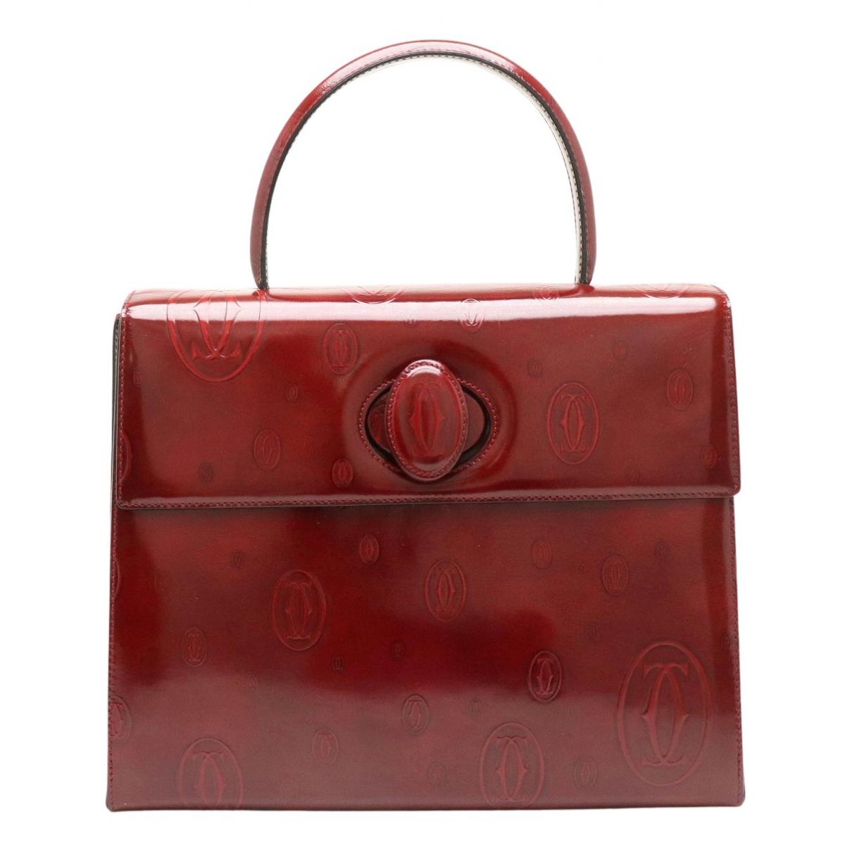 Cartier \N Handtasche in  Bordeauxrot Lackleder