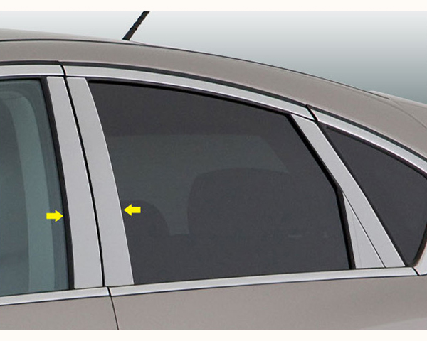 Quality Automotive Accessories 4-Piece Pillar Post Trim Kit Infiniti EX Series 2011