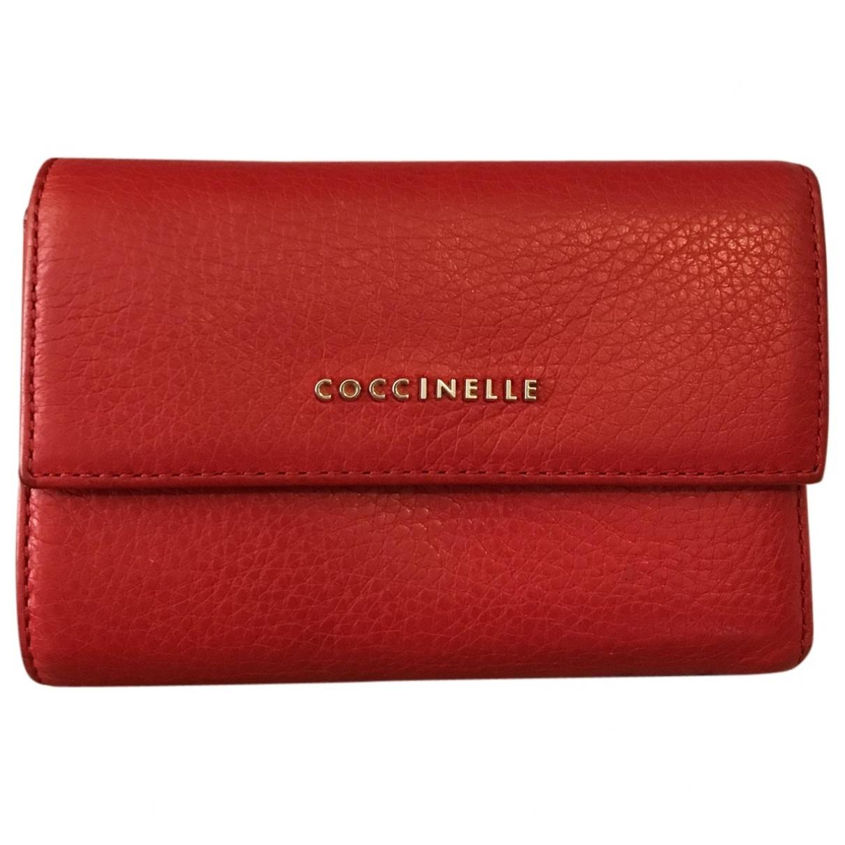 Coccinelle - Portefeuille   pour femme en cuir - rouge