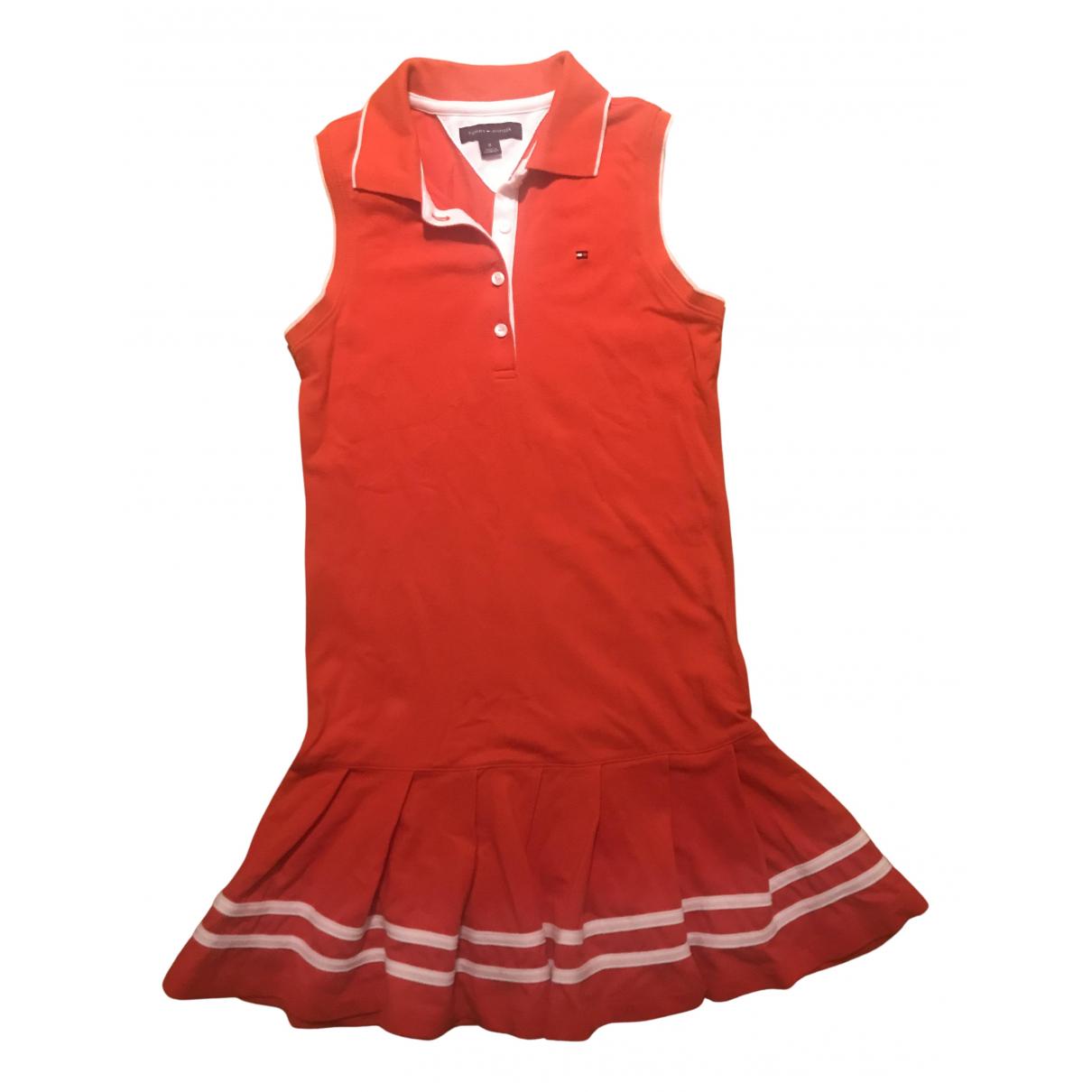 Tommy Hilfiger - Robe    pour enfant en coton - rouge