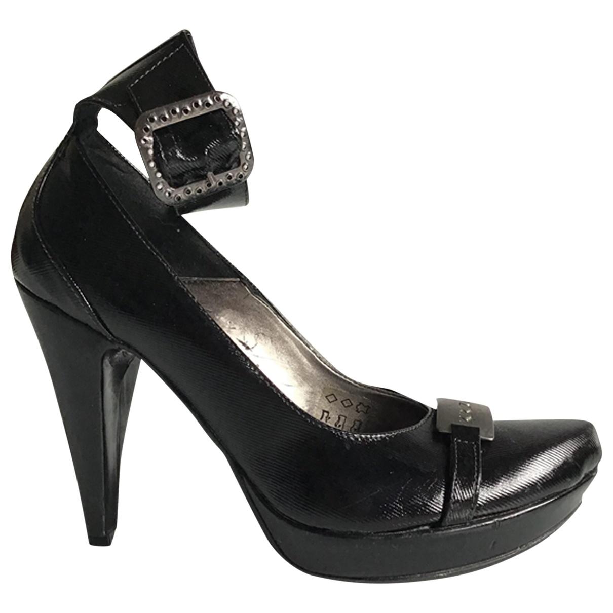 Krizia - Escarpins   pour femme en cuir - noir