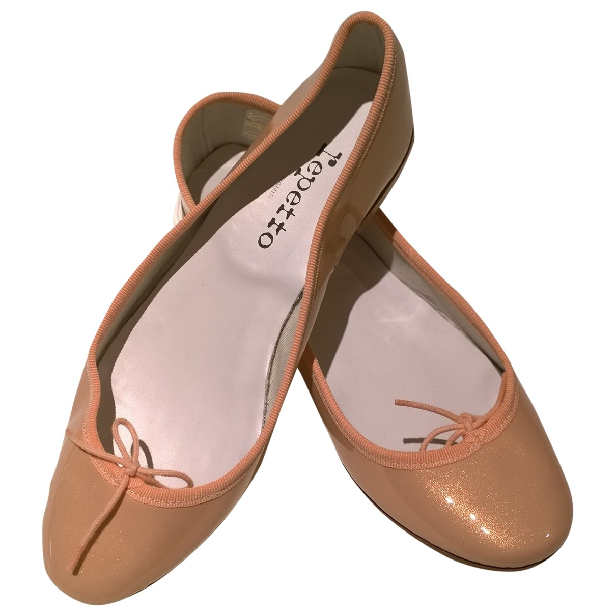 Repetto \N Pink Patent leather Ballet flats for Women 39 EU