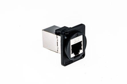 RS PRO XLR Panel Mount XLR Connector, Female, Black