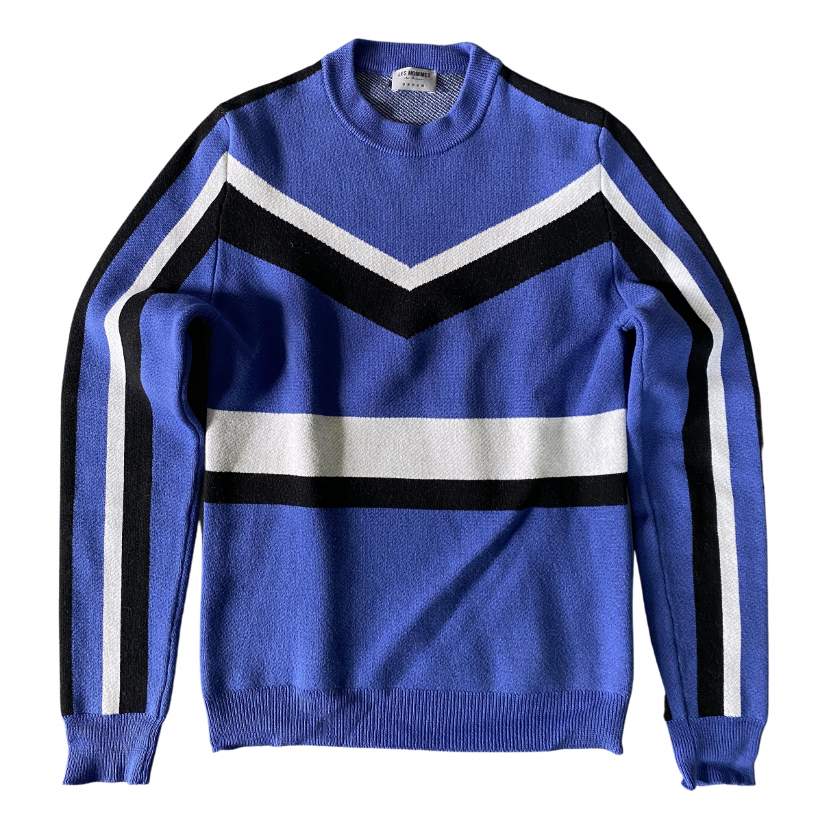 Les Hommes \N Pullover.Westen.Sweatshirts  in  Blau Wolle