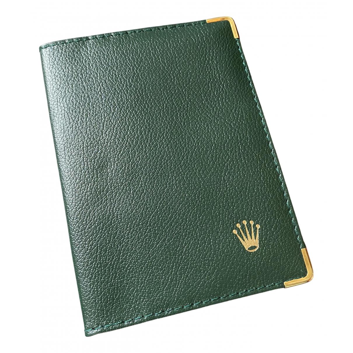 Rolex - Petite maroquinerie   pour homme en cuir - vert