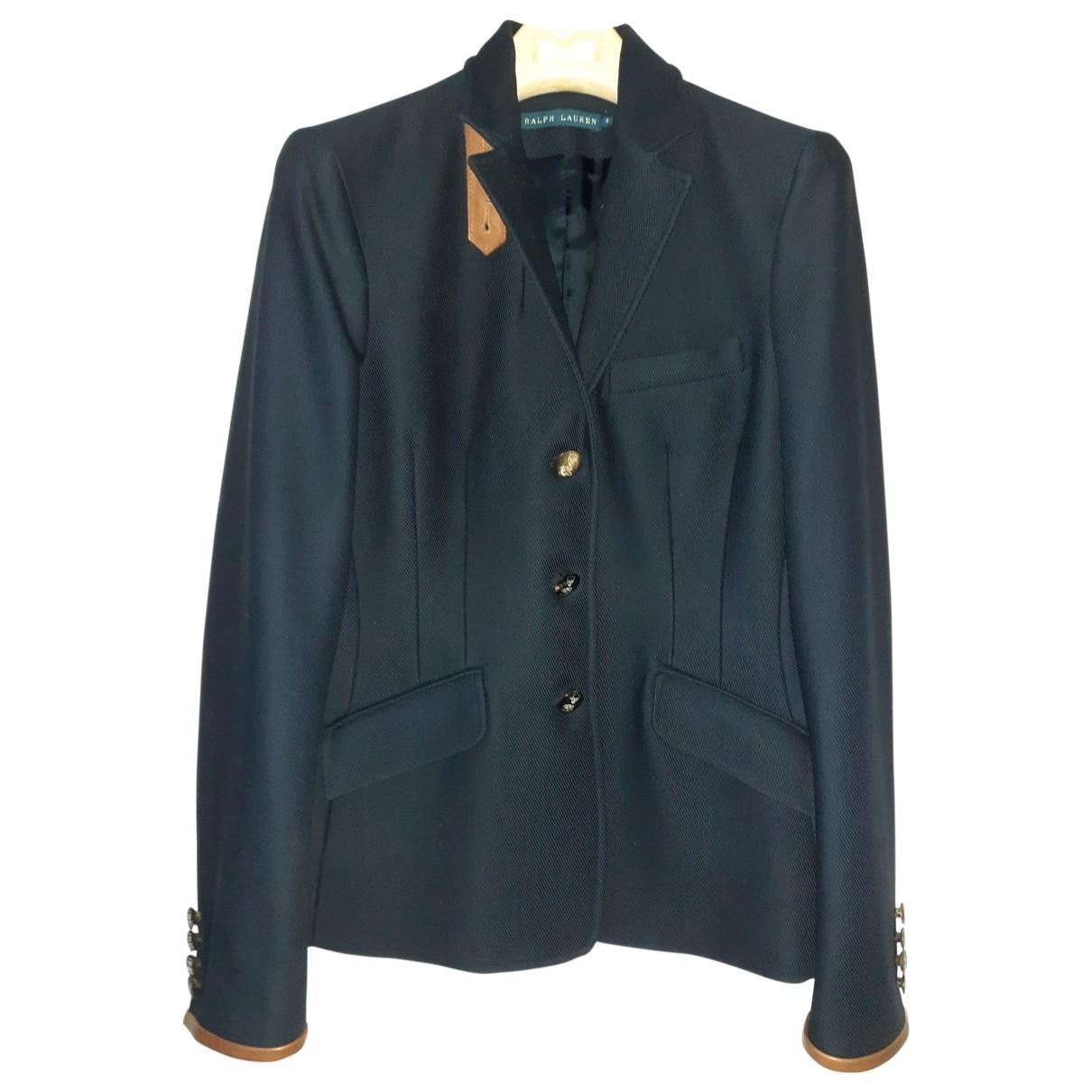 Ralph Lauren \N Blue Wool jacket for Women 6 US