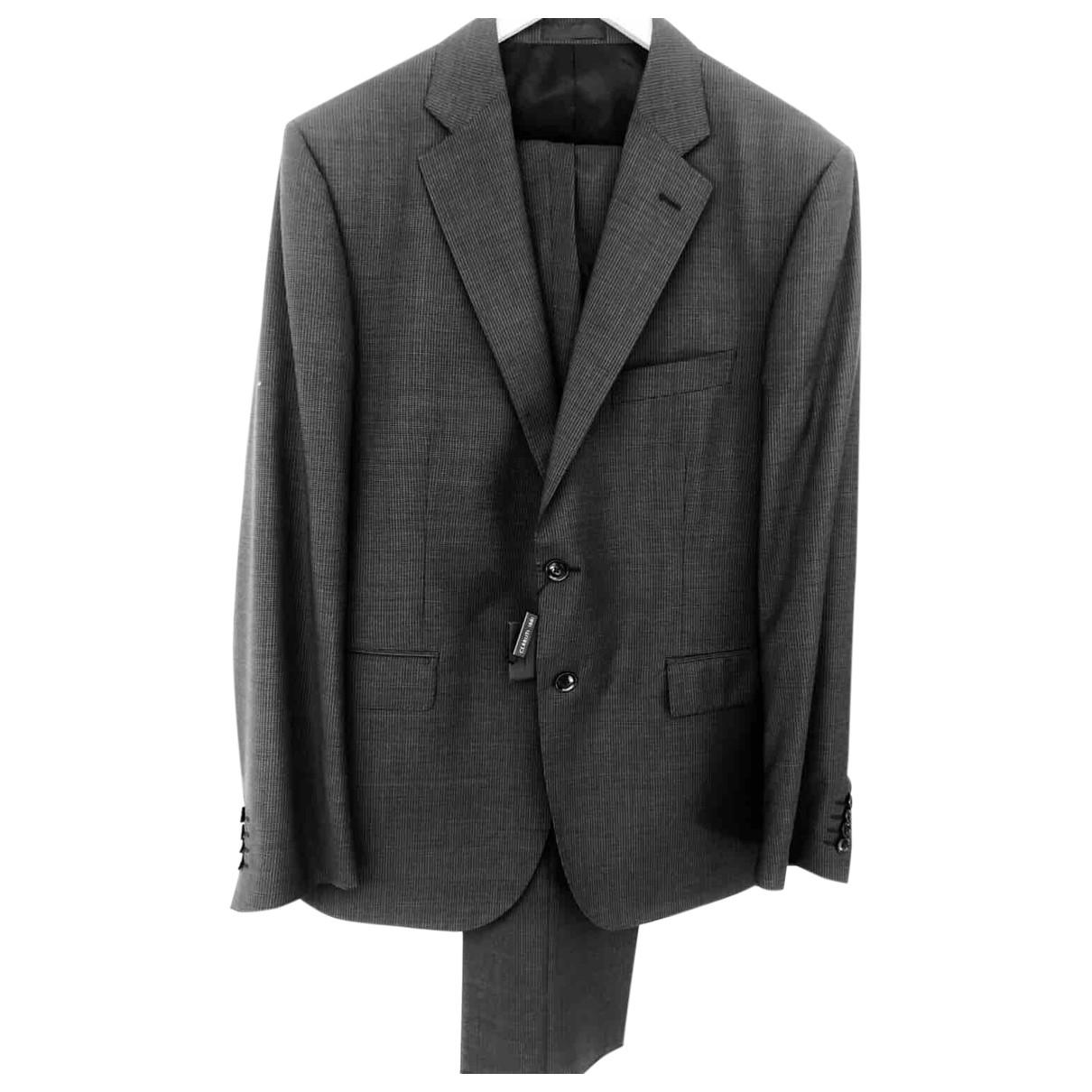 Cerruti \N Anthracite Wool Suits for Men 54 IT