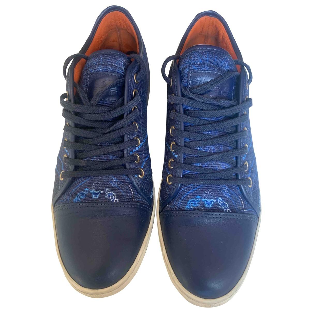 Etro - Baskets   pour homme en toile - bleu