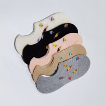 5 Paare Socken mit Eis Muster