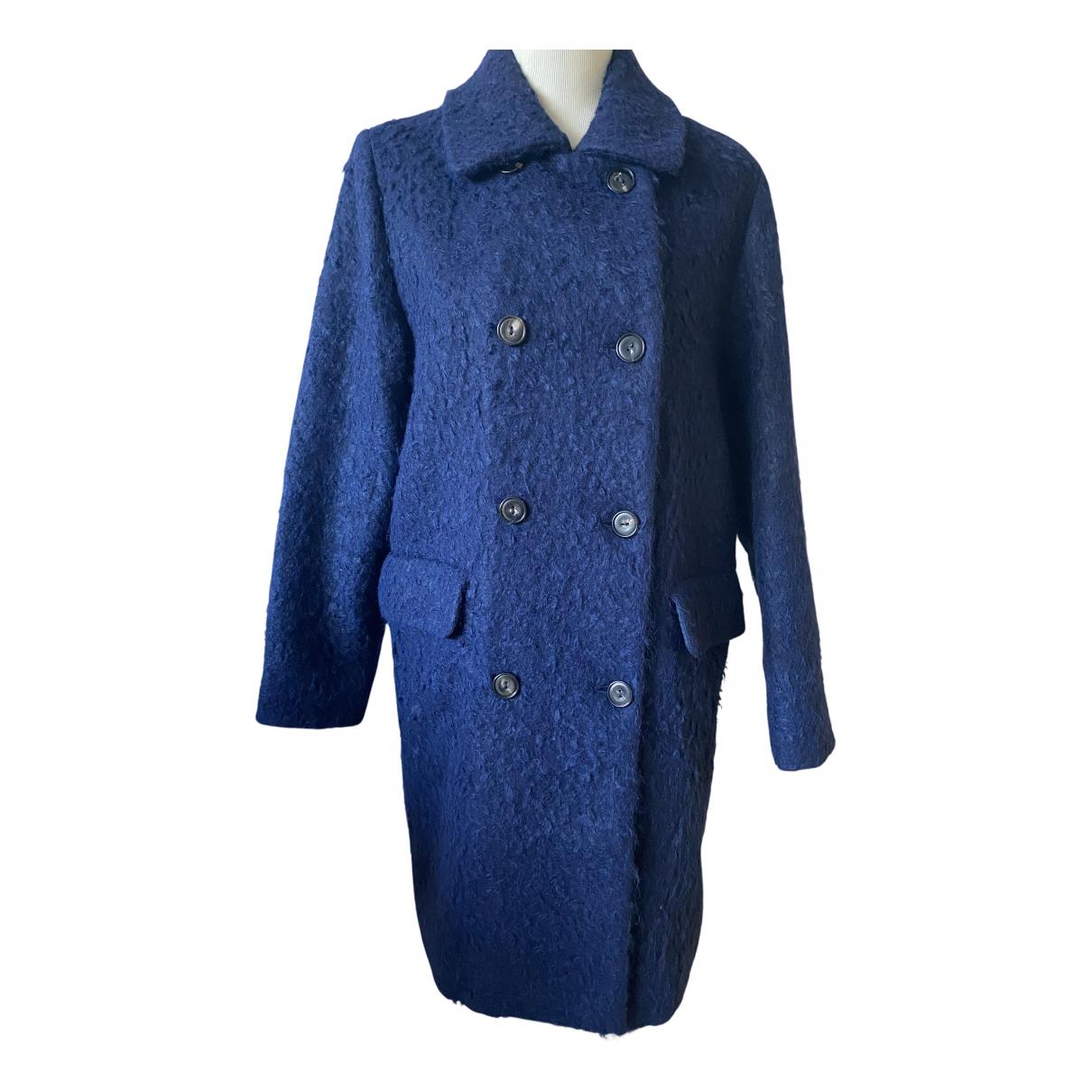 Marc Cain N Navy Wool coat for Women 10 UK