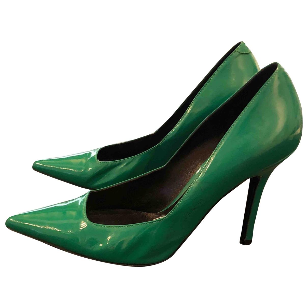 Catherine Malandrino - Escarpins   pour femme en cuir verni - vert