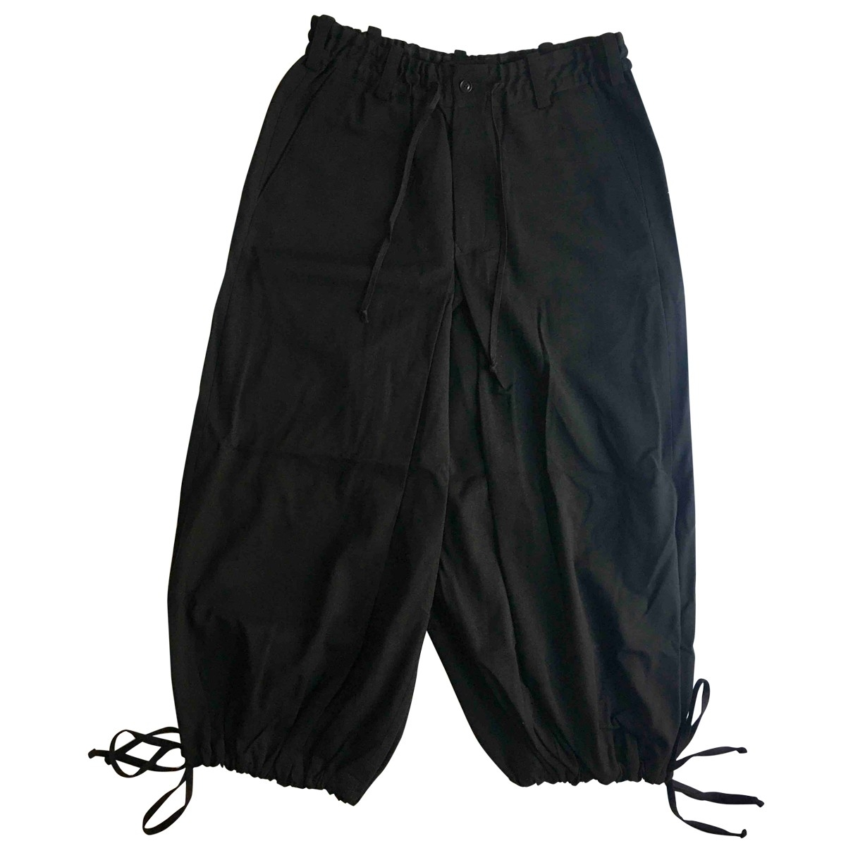 Yohji Yamamoto - Pantalon   pour homme en laine - noir