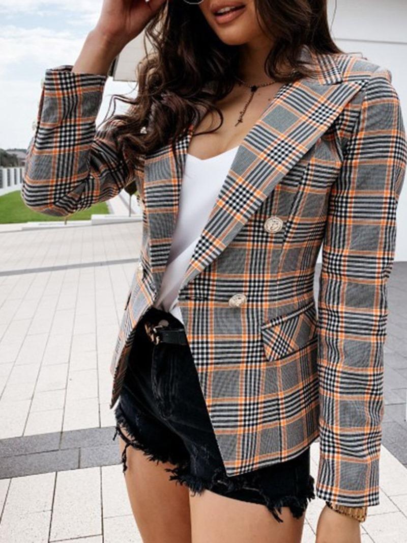 Ericdress Stripe Notched Lapel Long Sleeve Standard Regular Casual Blazer