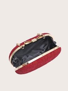 Bow Decor Floral Graphic Box Bag