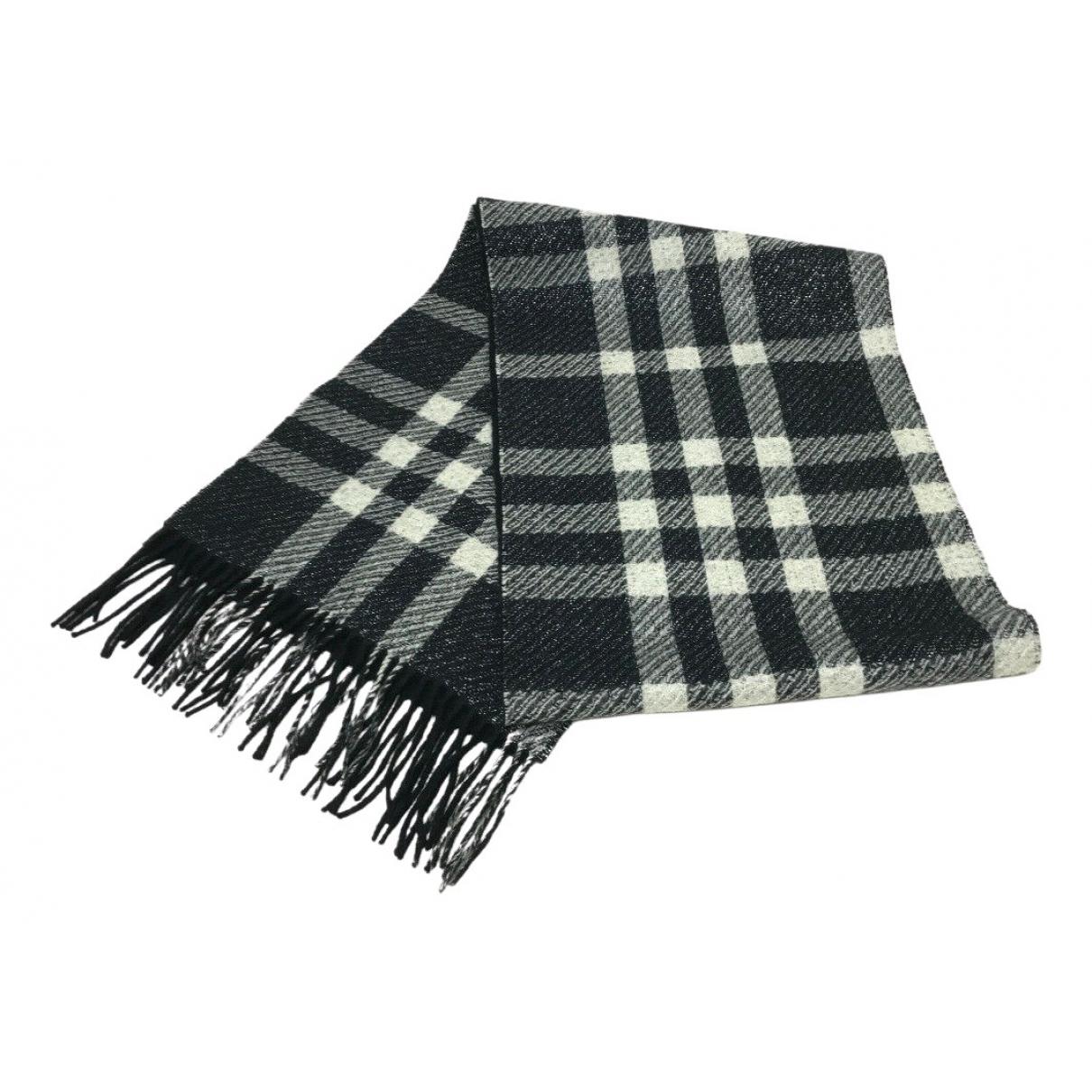 Burberry - Foulard   pour femme en laine - noir