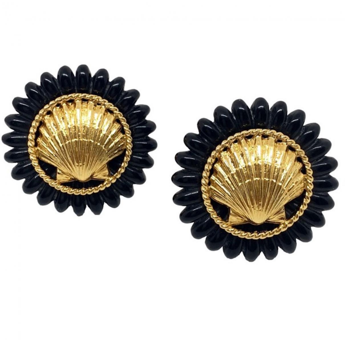 Chanel - Boucles doreilles   pour femme en metal - noir