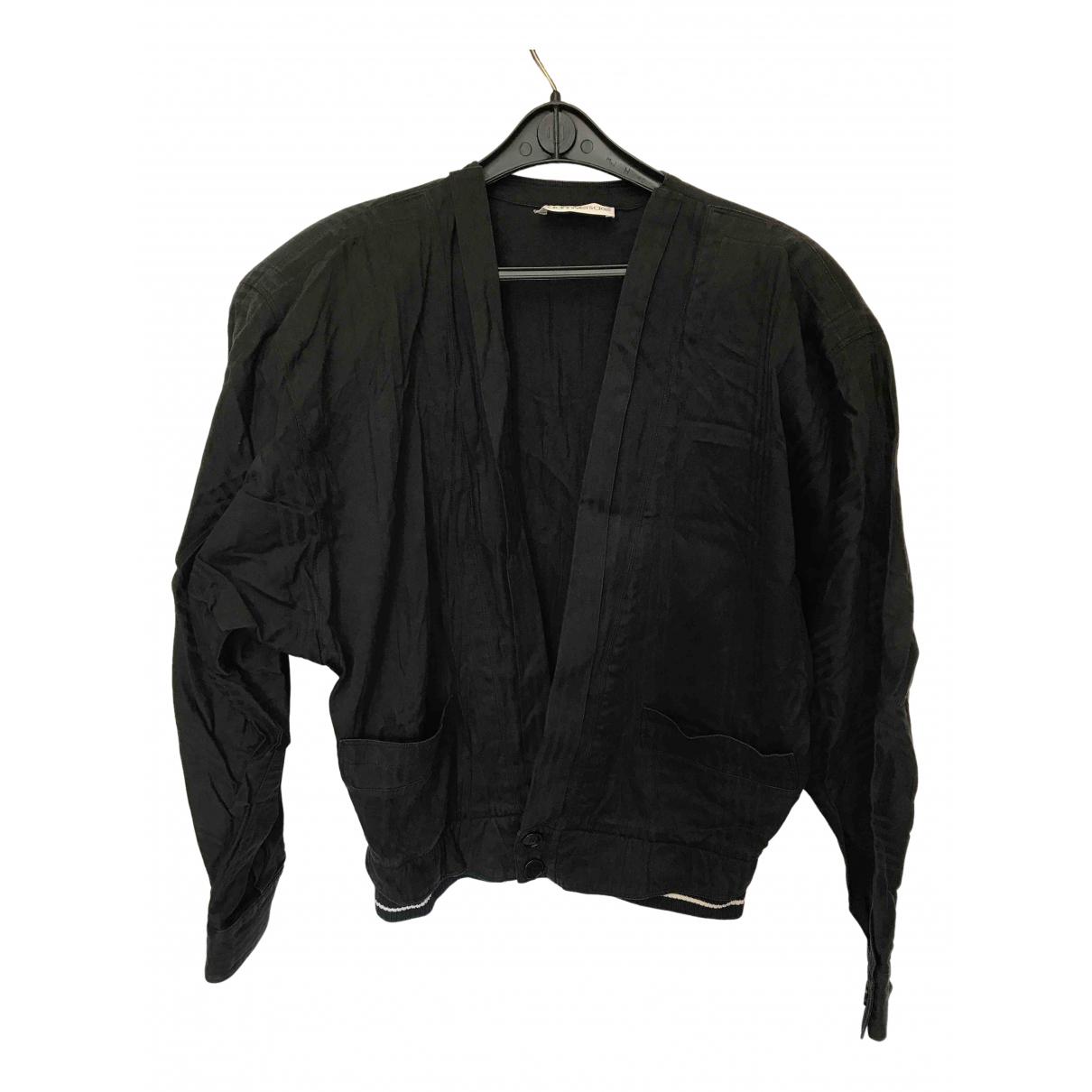 Gianni Versace - Veste   pour femme en coton - noir