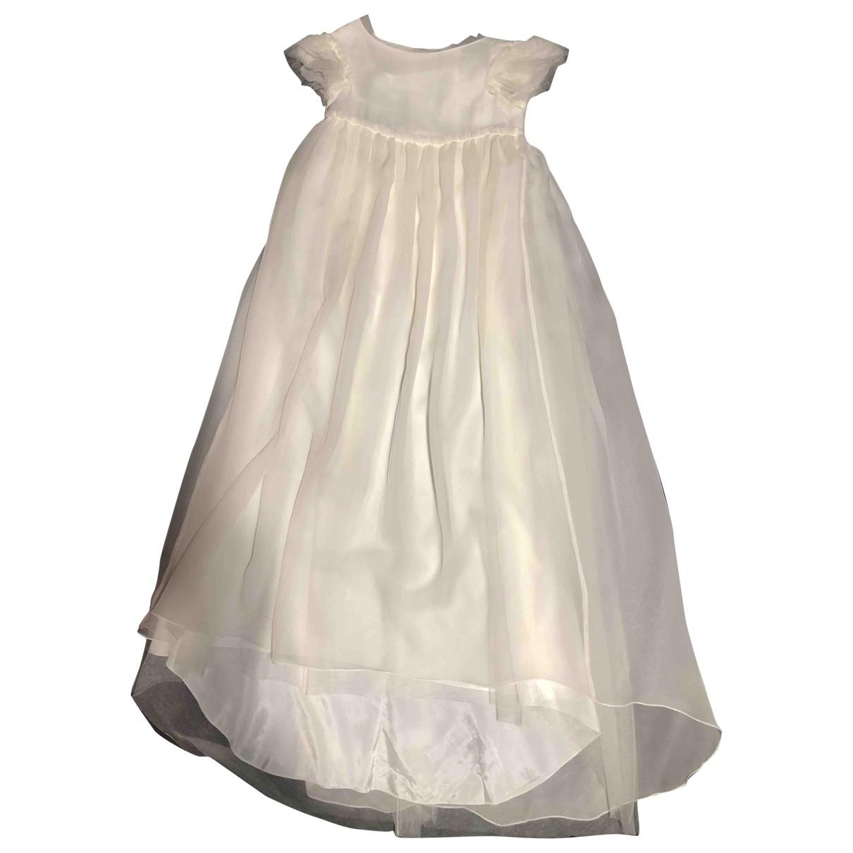Bonpoint \N Kleid in  Ecru Seide