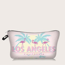 1pc Flamingo Makeup Bag
