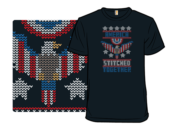 America Stitched Together T Shirt